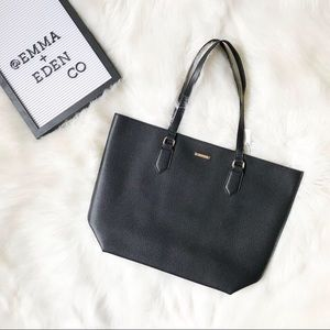 White House Black Market Faux Leather Tote